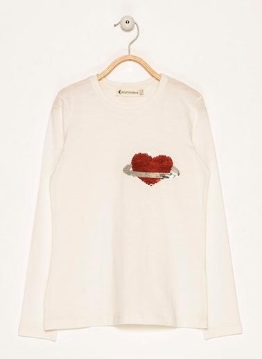 Morhipo Kids Pullu Kalp Detaylı Sweatshirt Gri